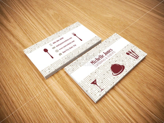 Printable catering services business cards custom cards etsy image 0 colourmoves