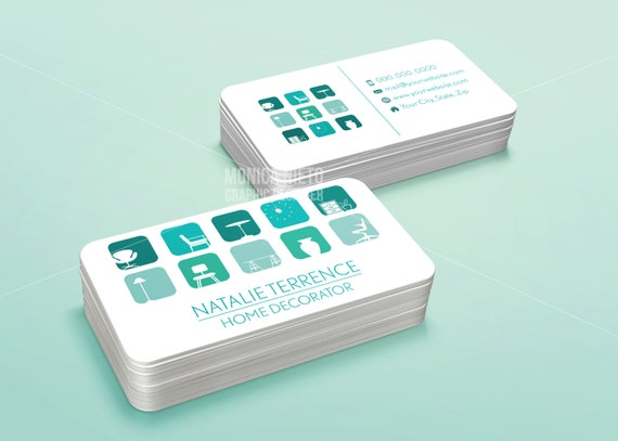 Printable home decorator business card template interior etsy image 0 fbccfo Gallery