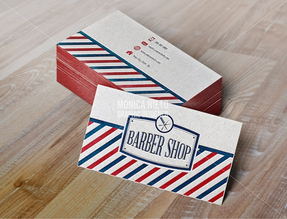 Printable vintage barber shop business cards vintage hair etsy image 0 colourmoves
