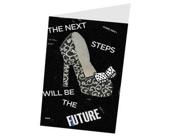 "Printable Handcrafted 5x7 ""Next Steps"" Greeting Card--Blank Inside--Digital Download"