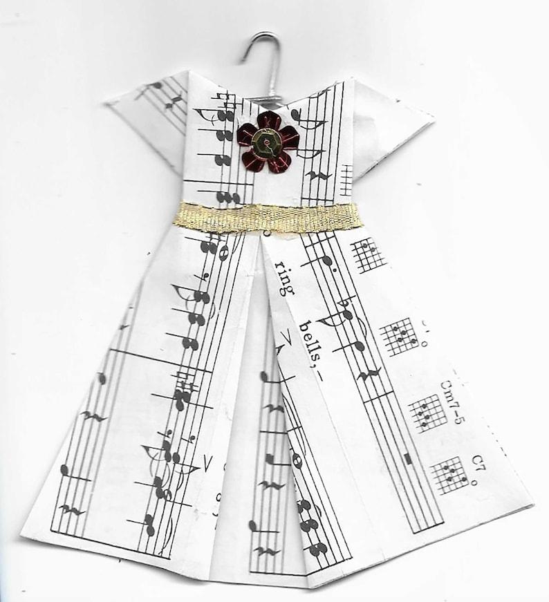 Handmade Origami Music Dress Ornament image 0