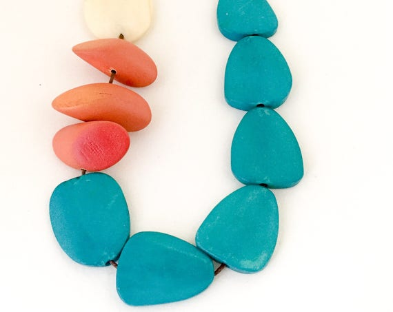 bead necklace FIRE & ICE