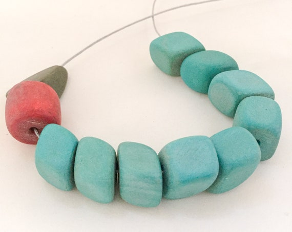 bead necklace RED BERRY