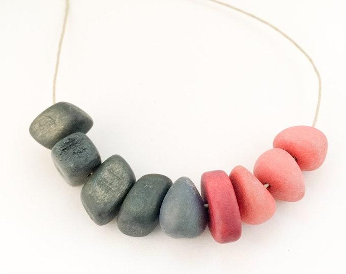 bead necklace HORIZON LINE