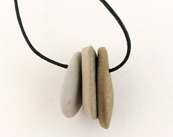 stone necklace THREE FOLD
