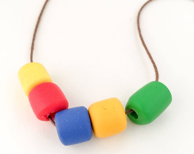 polymer clay necklace BRIGHT NIGHTS