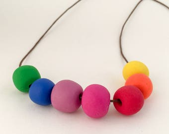 polymer clay necklace KINDERGARTEN