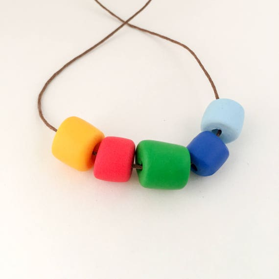 polymer clay necklace FIVE WAYS