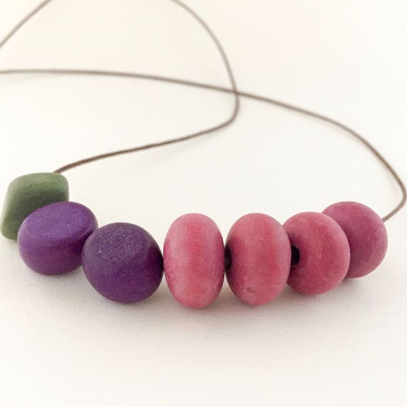 bead necklace FOREST FRUITS