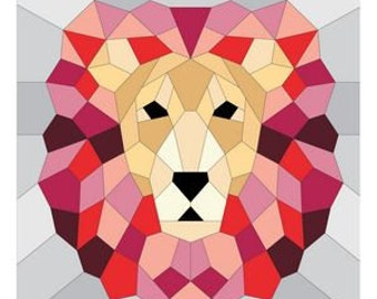 The Lion - Quilt Pattern - English Paper Piecing - Violet Craft - VC017