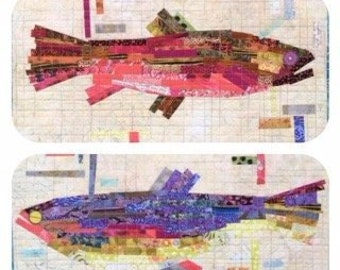 Making Fish Collage Quilt Pattern - Laura Heine - Fiberworks - LHFW MF