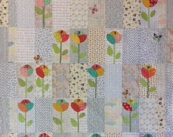 Seedlings Collage Quilt Pattern - Laura Heine - Fiberworks - LHFW SEED