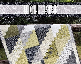 High Rise Quilt Pattern - Jocelyn Ueng - It's Sew Emma - Moda - Authentic Etc. - ISE 181