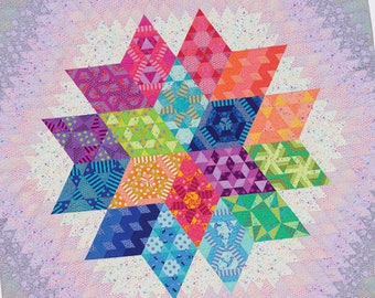Nebula Quilt Pattern - Block of the Month - Julie Herman - Jaybird Quilts - True Colors - Tula Pink - JBQ 178