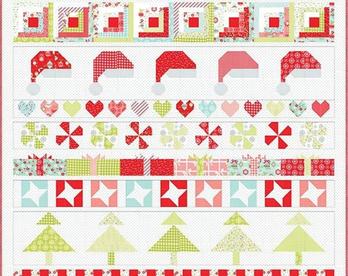 Vintage Holiday Quilt Pattern Fabric Kit - Christmas Cheer - Moda - Bonnie & Camille - KIT55161