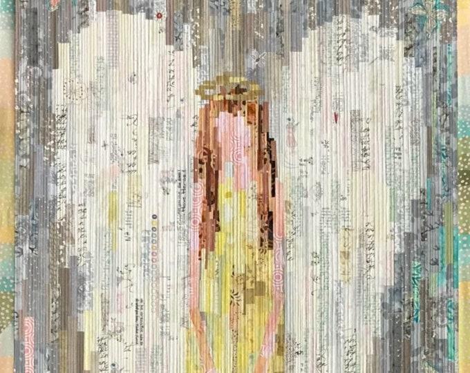 The Guardian Collage Quilt Pattern - Laura Heine - Fiberworks - LHFW GUARD