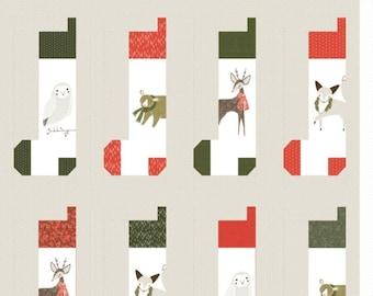 Quilt Pattern Fabric Kit - Stockings - Merriment - Gingiber - Moda - KIT48270