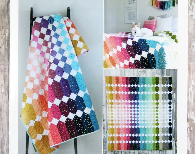Abacus Quilt Pattern Fabric Kit - Moda - V and Co - Vanessa Christenson - VC 1256 - Ombre Confetti Metallic