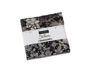 Stiletto - Basic Grey - Moda - 42 Pieces - Charm Pack - 30610PP