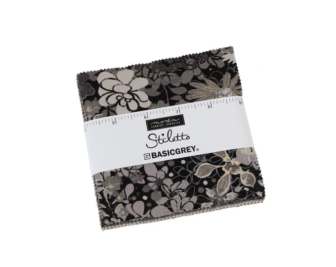 Stiletto - Basic Grey - Moda - 42 Pieces - Charm Pack - 30610PP