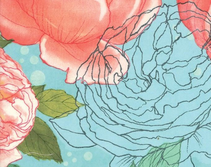 1/2 Yard - Abby Rose - Seafoam - Robin Pickens - Moda - Fabric Yardage - 48670 15