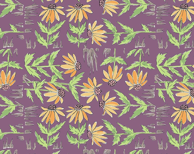 SALE!! 1/2 Yard - Color Fusion - Daisy - Plum - Laura Heine - Freespirit - Fabric Yardage - PWLH018.PLUM