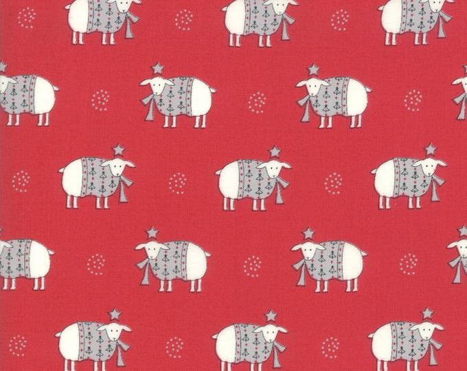 1/2 Yard - Country Christmas - Cardinal Red - Bunny Hill Designs - Moda - Fabric Yardage - 2962 12