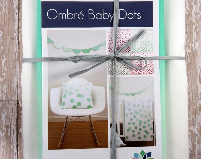 Ombre Baby Dots - Teal - Baby Quilt Pillow Banner Pattern Fabric Kit  - Moda - V and Co - Vanessa Christenson 10800 31