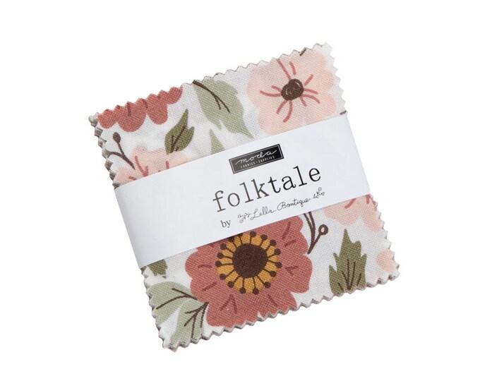 Folktale - Lella Boutique - Moda - 42 Pieces - Mini Charm Pack - 5120MC