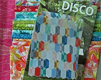 Disco Quilt Kit - In the Bloom Fabric Collection - Valori Wells - Robert Kaufman Fabrics - KIT-680-26 - Youth Size