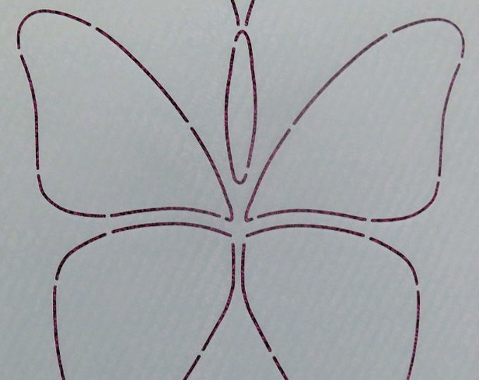 Stencil - Butterfly - Edyta Sitar - Laundry Basket Quilts - Moda - LBQ-0474-T