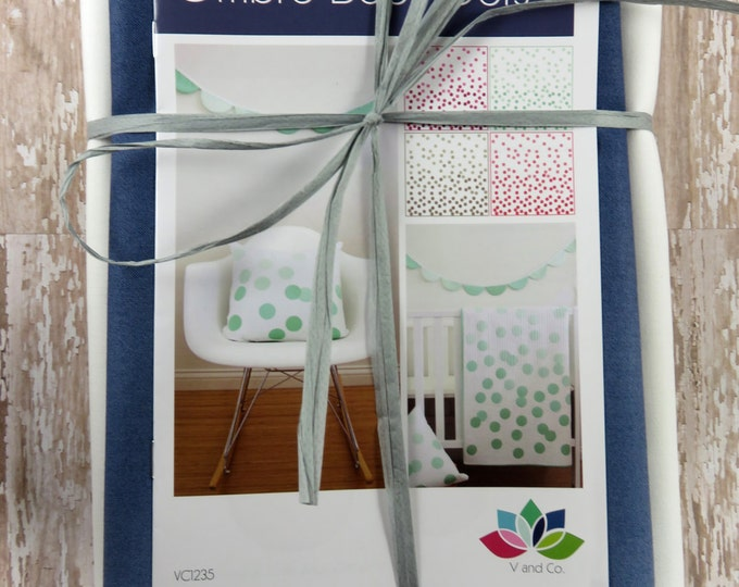 Ombre Baby Dots - Indigo - Baby Quilt Pillow Banner Pattern Fabric Kit  - Moda - V and Co - Vanessa Christenson 10800 225