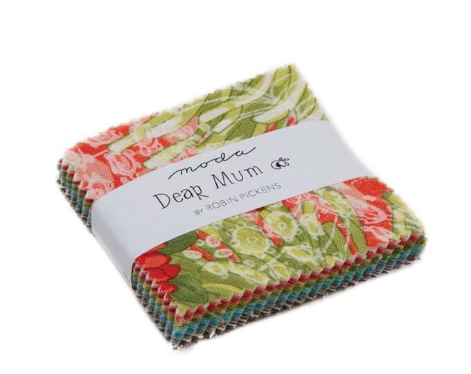 Dear Mum - Robin Pickens - Moda - 42 Pieces - Mini Charm Pack - 48620MC
