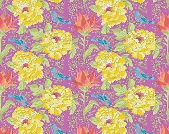 SALE!! 1/2 Yard - Color Fusion - Bird of Paradise - Violet - Laura Heine - Freespirit - Fabric Yardage - PWLH016.VIOLET