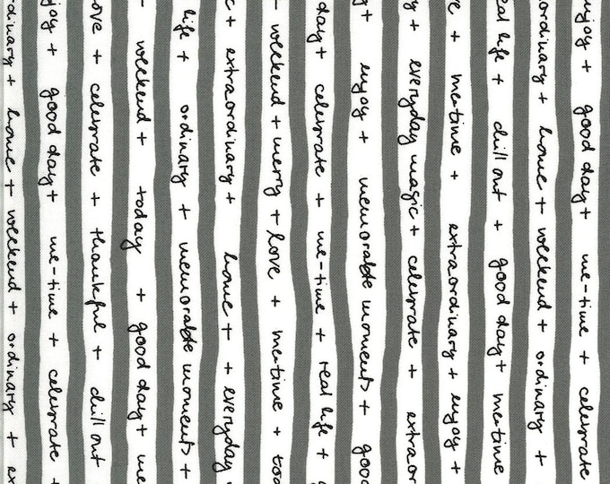 1/2 Yard - Quotation - Graphite - Zen Chic - Moda - Fabric Yardage - 1732 12