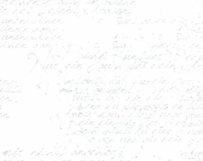 1/2 Yard - Modern Background Paper - Silver White - Zen Chic - Brigitte Heitland - Moda - Fabric Yardage - 1580 12