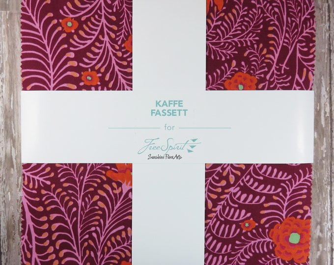 "Kaffe Fassett Classics - Westminster - 42 Pieces - 10"" Squares - Layer Cake - Lipstick"