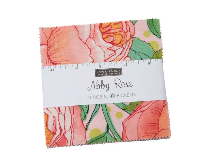Abby Rose - Robin Pickens - Moda - 42 Pieces - Charm Pack - 48670PP