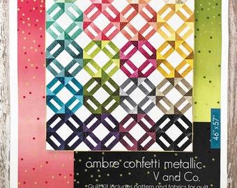 Ombre Weave Quilt Kit - Vanessa Christenson - V and Co - Moda Fabrics - KIT10807