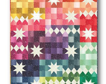 Ombre Carnival Quilt Pattern - Moda - V and Co - Vanessa Christenson - VC 1262 - Ombre Bloom