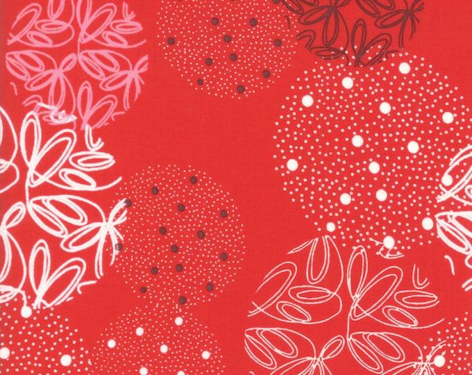 1/2 Yard - Just Red - Spheres - Lipstick - Zen Chic - Brigitte Heitland - Moda - Fabric Yardage - 1700 12