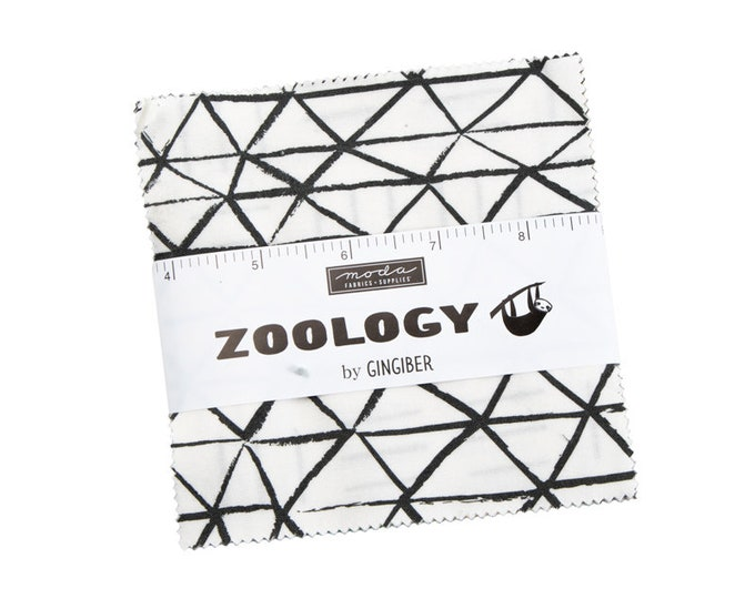 Zoology - Gingiber - Stacie Bloomfield - Moda - 42 Pieces - Charm Pack - 48300PP