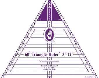 "Ruler - 60 Degree Triangle Ruler - 3"" - 12"" - Michell Marketing - 8975"
