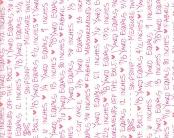 SALE!! 1/2 Yard - Spectrum Ombre - Notes - Magenta Paper - V and Co - Vanessa Christenson - Moda Fabrics - Fabric Yardage - 10863-11