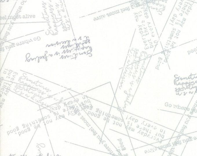1/2 Yard - Modern Background More Paper - Happy - White - Zen Chic - Brigitte Heitland - Moda - Fabric Yardage - 1674 18
