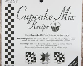 Cupcake Mix Recipe #4 - Quilt Pattern - Charm Pack Friendly - Miss Rosie's Quilt Company