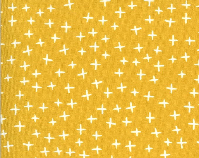 1/2 Yard - Quotation - Mustard - Zen Chic - Moda - Fabric Yardage - 1734 17