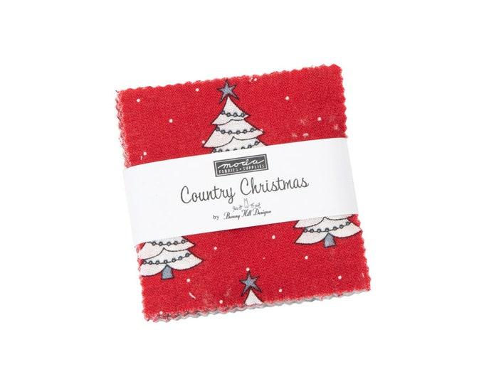 Country Christmas - Bunny Hill Designs - Moda - 42 Pieces - Mini Charm Pack - 2960MC