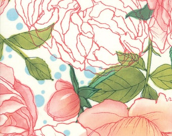 1/2 Yard - Abby Rose - Cream - Robin Pickens - Moda - Fabric Yardage - 48670 11