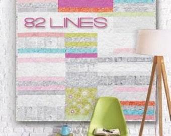 82 Lines Quilt Pattern - Zen Chic - Brigitte Heitland - Moda - Flow - ELQP